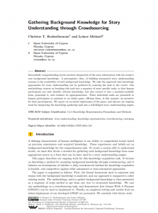 Gathering Background Knowledge for Story Understanding through Crowdsourcing
