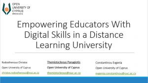 Empowering Educators with Digital Skills in a Distance Learning University