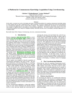 A Platform for Commonsense Knowledge Acquisition Using Crowdsourcing